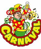 Carnaval versieringbord muzikant met trompet 35 x 40 cm