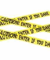 Caution versieringlint geel 6 meter