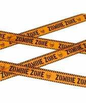 Caution versieringlint oranje 6 meter