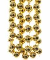 Christmas gold kerstversiering sterren grove kralen ketting goud 270 cm