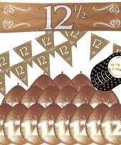 Compleet jubileum pakket versiering 12 5 jaar getrouwd thema 10173722