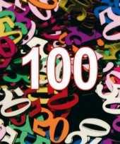 Confetti 100 jaar thema versiering zakjes van 15 gram