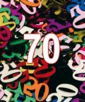 Confetti 70 jaar thema versiering zakjes van 15 gram