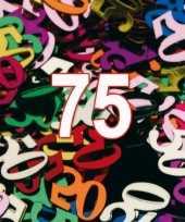 Confetti 75 jaar thema versiering zakjes van 15 gram