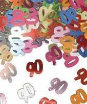 Confetti 90 jaar thema versiering zakjes van 15 gram