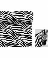 Dieren thema tafelversiering set zebra tafelloper servetten