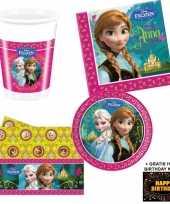 Disney frozen kinderfeestje versiering tafel pakket 8 pers kaa