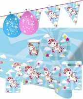 Eenhoorn thema kinderfeestje versiering pakket 9 16 personen