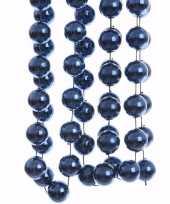 Elegant christmas kerstversiering sterren grove kralen ketting blauw 270 cm