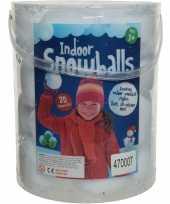 Emmer met 20x witte sneeuwballen 8 cm sneeuwversiering 10186922