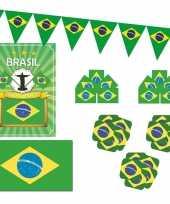 Feestartikelen brazilie versiering pakket 10114093