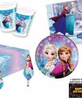 Frozen lights kinderfeestje versiering tafel pakket 8 pers kaa