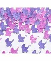 Geboorte versiering kinderwagens confetti