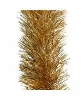 Gouden kerstslinger 10 x 270 cm kerstboom versieringen