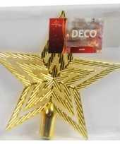 Gouden ster piek kerstboomversiering 21 cm