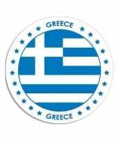 Griekenland sticker rond 14 8 cm landen versiering