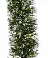 Groene sneeuw kerstslinger 7 x 270 cm kerstboom versieringen