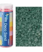 Grof versiering zand kiezels turquoise 500 gram
