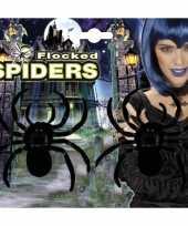 Grote versiering spinnen 2 stuks