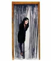 Halloween folie deurgordijn zwarte versiering 200 cm