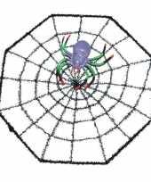 Halloween spinnenweb 29 x 29 cm halloween versiering met spinnetje