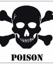 Halloween versiering giftig poison sticker 10 5 cm