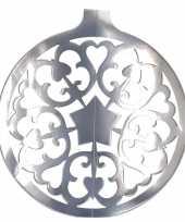 Hangversiering kerstbal zilver 49 cm
