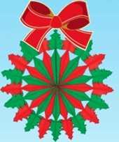 Hangversiering kerstkrans 60 cm