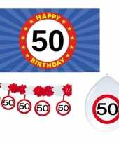 Happy birhday verjaardag pakket versiering 50 jaar