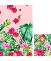 Hawaii thema tafelversiering set tafelkleed servetten