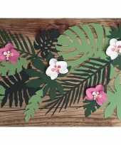 Hawaii versiering orchidee bladeren 6 stuks