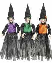 Heksen hangversiering paars 70 cm