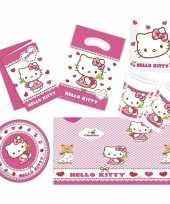 Hello kitty thema kinderfeestje versiering pakket 2 6 personen