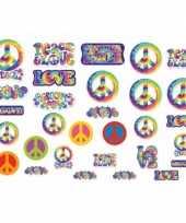 Hippie feest versiering 30 stuks