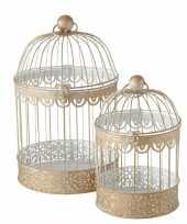 Home versiering vogelkooi goud 19 x 30 cm