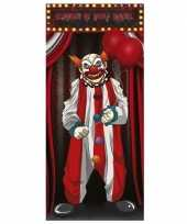 Horror clown poster 75 x 150 cm halloween versiering