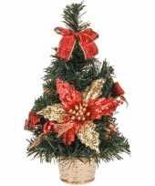 Kantoor kerstboom rode versiering 30 cm