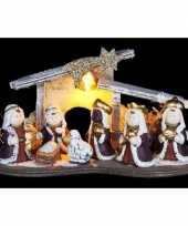 Kerst kerststal versiering led 16 cm