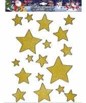 Kerst raamstickers raamversiering gouden sterren plaatjes