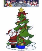 Kerst raamstickers raamversiering kerstman plaatjes 30 cm 10062308
