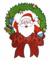 Kerst raamstickers raamversiering kerstman plaatjes 30 cm 10074191