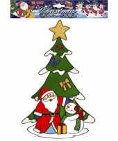 Kerst raamstickers raamversiering kerstman plaatjes 30 cm