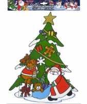 Kerst raamstickers raamversiering kerstman rendier plaatjes 40 cm