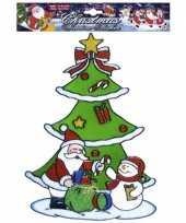 Kerst raamstickers raamversiering sneeuwpop kerstman plaatjes
