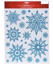 Kerst raamstickers raamversiering sneeuwvlok plaatjes 30 x 40 cm 10137820
