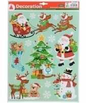 Kerst raamstickers raamversiering type 4 29 x 41 cm