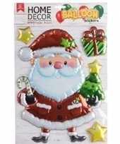 Kerst versiering 3d raamstickers kerstman 28 x 41 cm