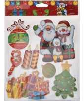 Kerst versiering 3d raamstickers type 1 29 x 36 cm