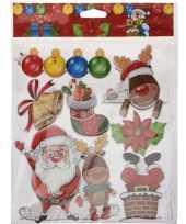 Kerst versiering 3d raamstickers type 2 29 x 36 cm