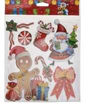 Kerst versiering 3d raamstickers type 3 29 x 36 cm